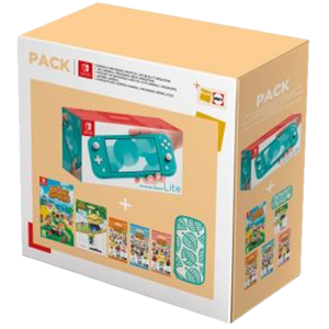 Pack Switch Lite turquoise Animal Crossing exclu Fnac