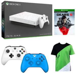 xbox one x hyperspace manette bleue blanche gears 5 t shirt v2 copie