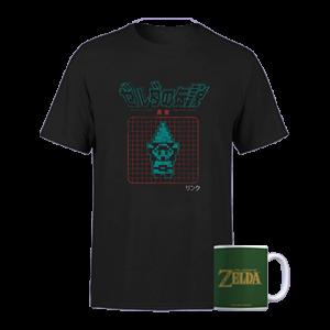 promo t shirt zelda avec mug