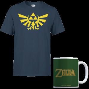 promo t shirt zelda avec mug triforce