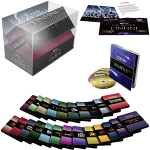 coffret Marvel integrale collector la saga de l'infini blu ray 4K visuel produit