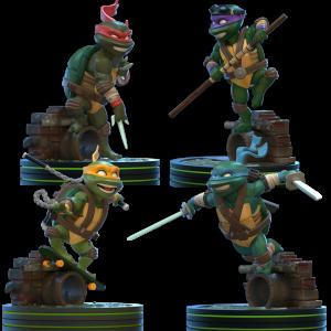 figurines tortues ninja en préco visuel produit