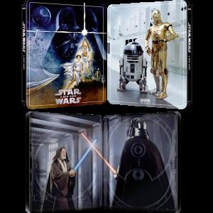 star wars 4 blu ray 4k steelbook un nouvel espoir a new hope