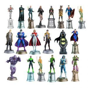 dc comics set 20 figurines jeu d'échec visuel produit
