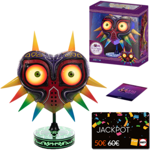 figurine majora's mask collector carte jackpot fnac