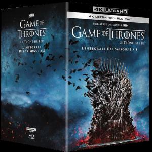 game of thrones intégrale blu ray 4K visuel produit