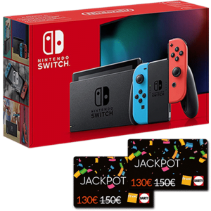 nouvelle nintendo switch neon cartes jackpot fnac visuel produit
