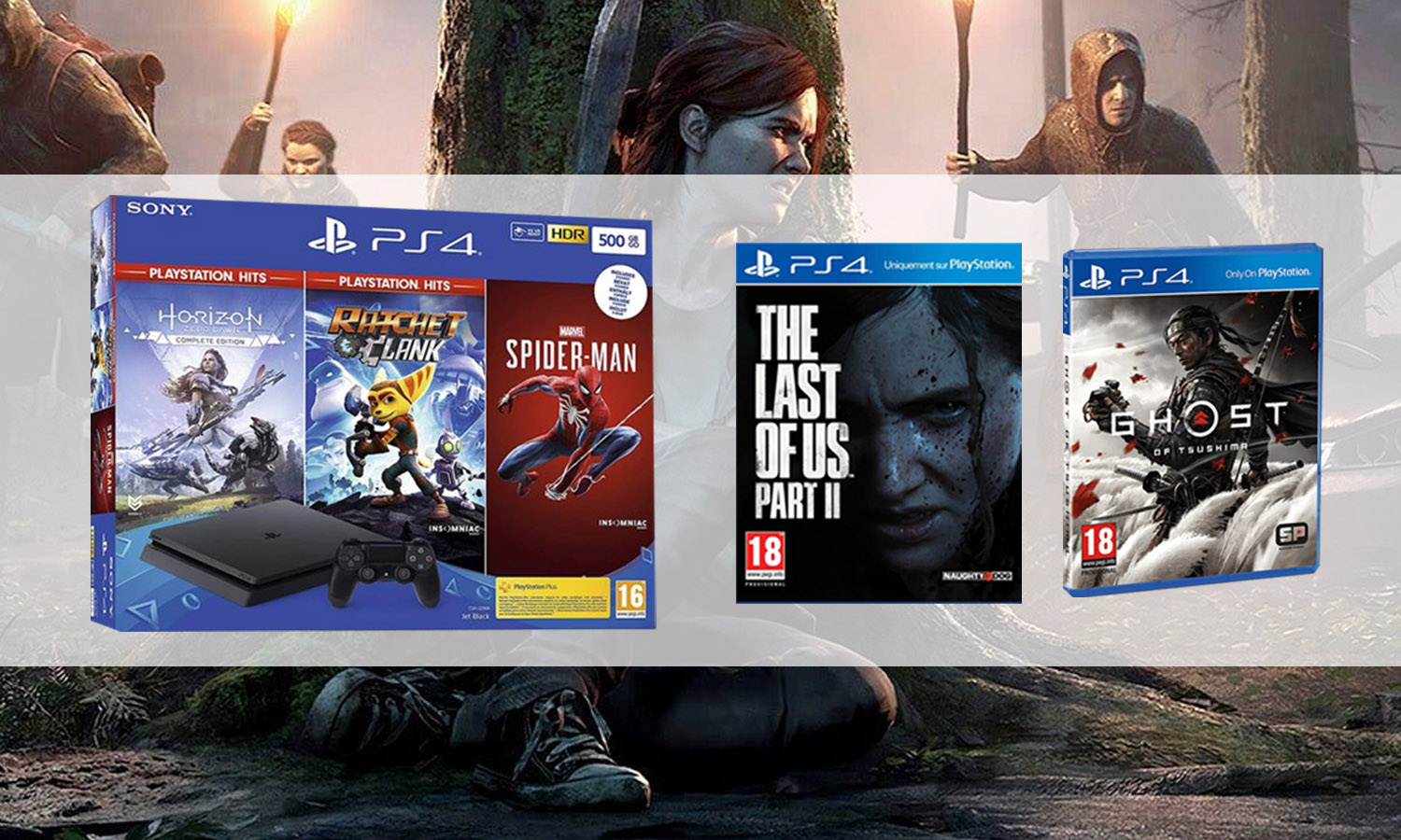 slider promotion pack ps4 slim last of us 2 ou ghost of tsushima