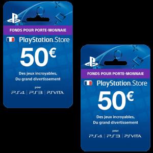 PSN 100 euros visuel produit