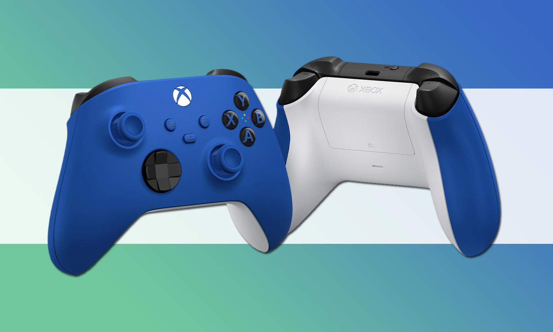 manette xbox series x bleue shock blue slider