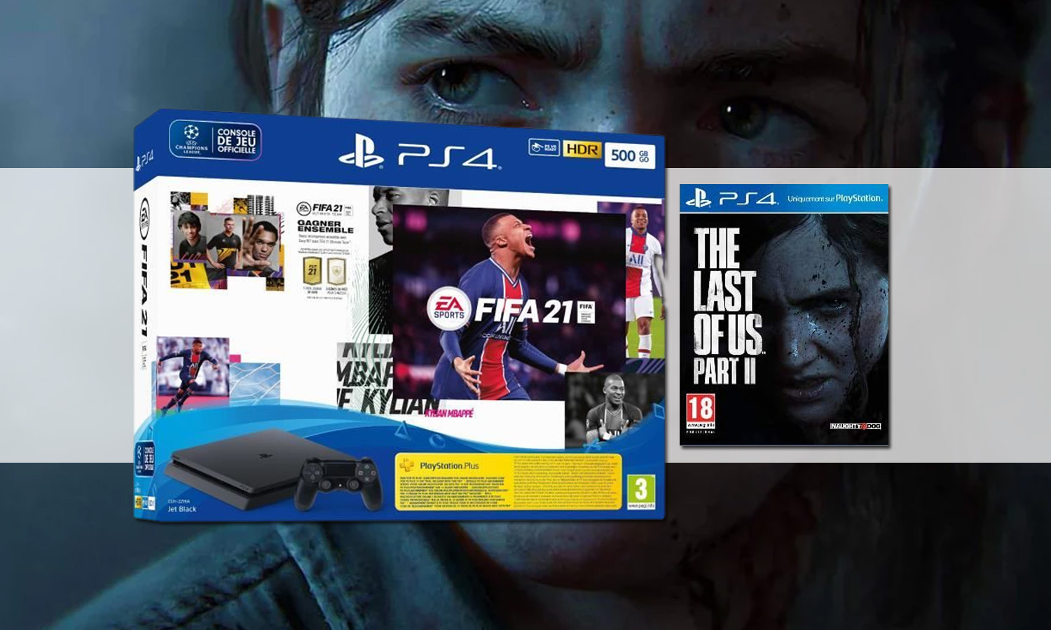 SLIDER pack ps4 slim fifa 21 the last of us part 2 v2