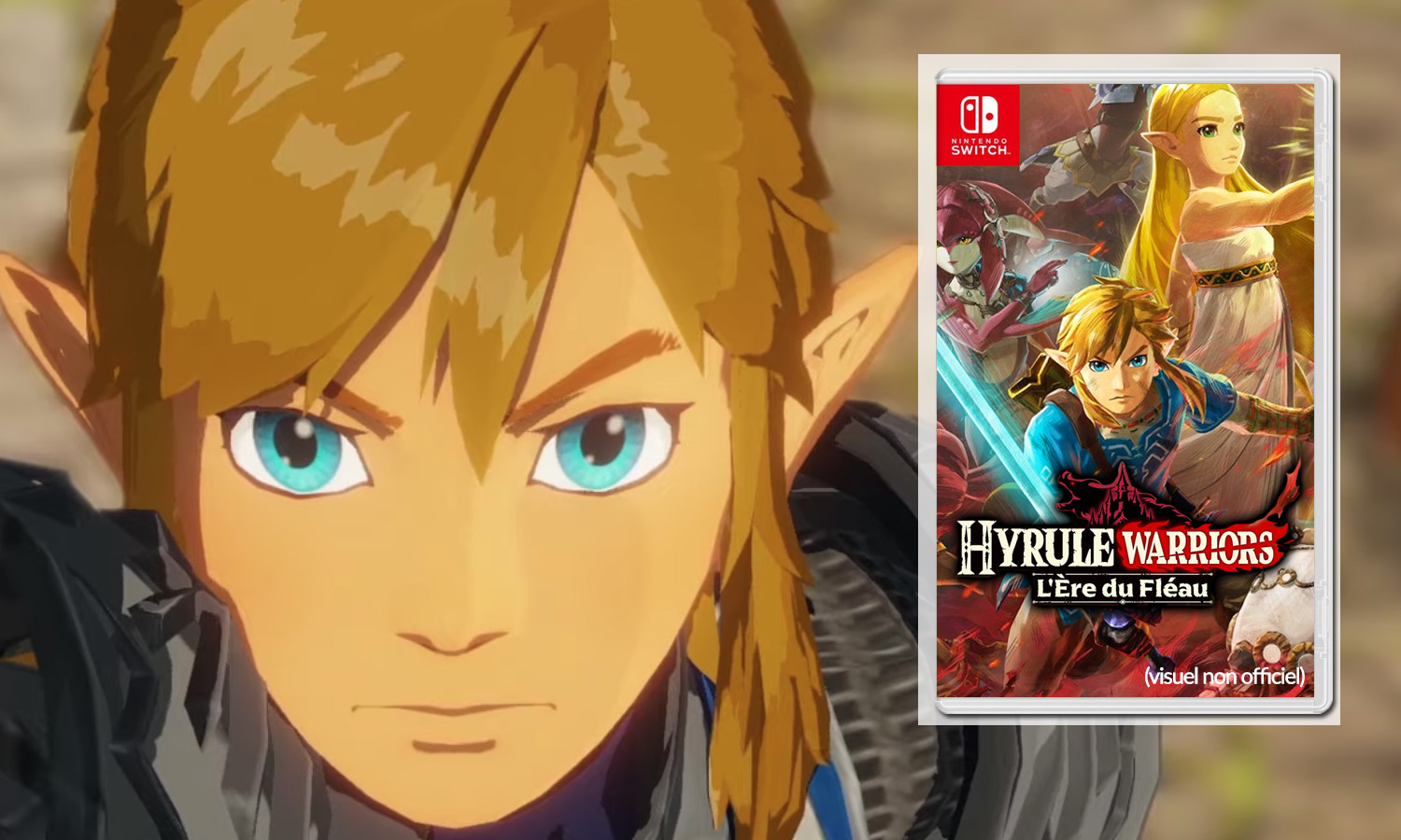 SLIDER zelda hyrule warriors l'ère du fléau switch visuel provisoire non officiel v2