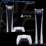 console ps5 digital packaging visuel produit