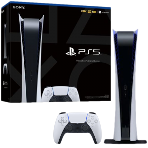 console ps5 digital packaging visuel produit