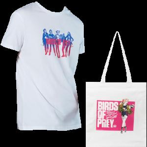 lot t-shirt tote bag birds of prey