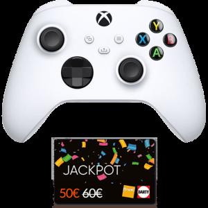 manette xbox series x robot white blanche cartes jackpot fnac