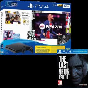 pack ps4 slim fifa 21 the last of us part 2 visuel produit