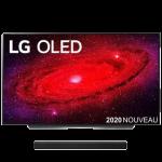 tv lg oled 55 cx visuel produit avec barre son