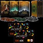 Coffret Trilogie Hobbit en Blu Ray 4K Steelbook cartes jackpot Fnac visuel produit