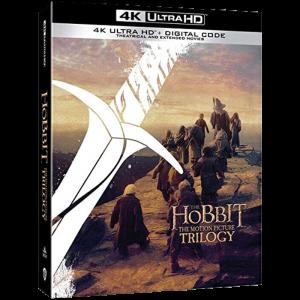 Coffret Trilogie Le Hobbit en Blu Ray 4K edition standard us visuel produit