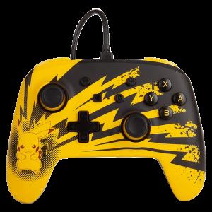 Manette filaire Pokémon - Éclairs Pikachu PowerA pour Switch visuel produit
