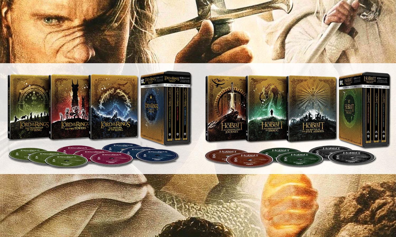 SLIDER coffret blu ray 4K steelbook seigneur des anneaux Hobbit US v6