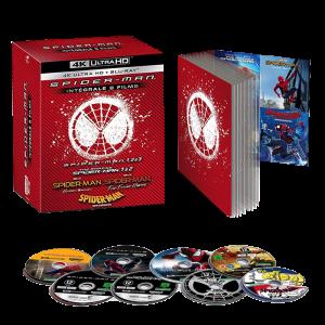 coffret spiderman intégrale 8 films 4k