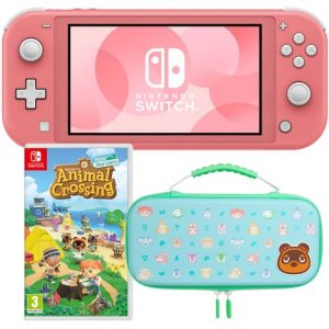 promo switch lite avec animal crossing et housse