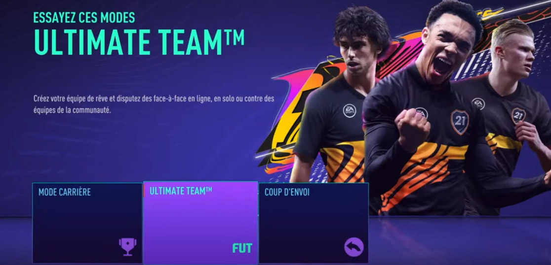 test fifa 21 ps4 screen ultimate team