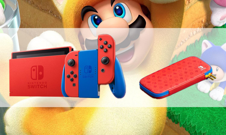 console nintendo switch super mario edition limitée slider v3