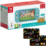 pack switch lite turquoise animal crossing carte jackpot fnac