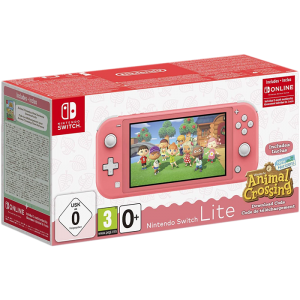 switch lite corail animal crossing