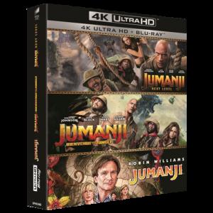 jumanji 4K trilogie visuel produit