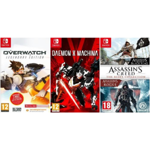 overwatch legendary edition daemon x machina assassin's creed rebel collection switch