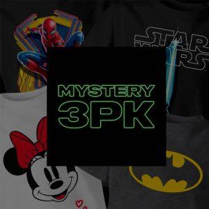 lot t-shirt mystere pour enfant