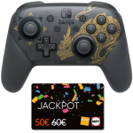 manette switch pro monster hunter rise cartes jackpot fnac