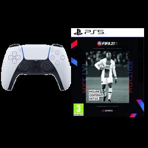manette PS5 avec FIFA 21 PS5 visuel produit