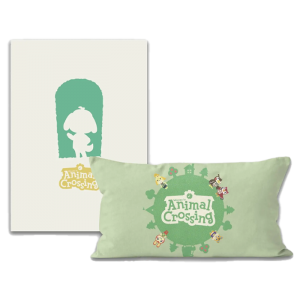 lot animal crossing coussin avec poster