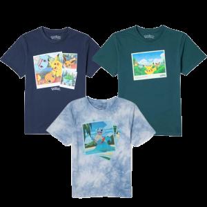 t shirt collection pokémon visuel produit