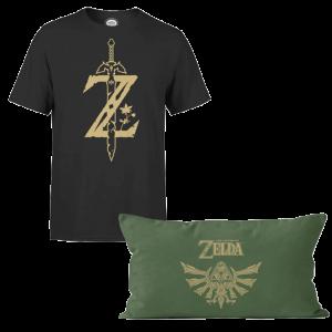 t shirt zelda avec coussin visuel produit