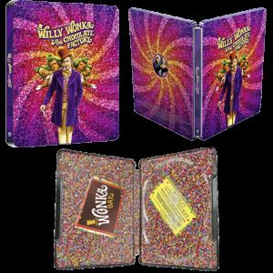 Charlie et la Chocolaterie Steelbook 4k 3 faces visuel produit