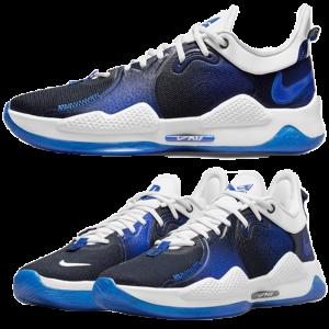 baskets pg5 nike modèle bleu visuel produit