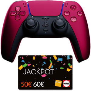 manette ps5 cosmic red carte jackpot fnac visuel produit
