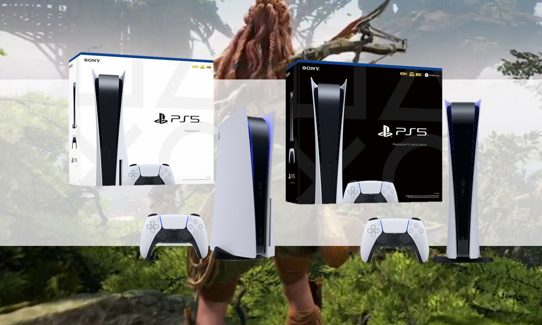 slider consoles ps5 standard et digital horizon v1