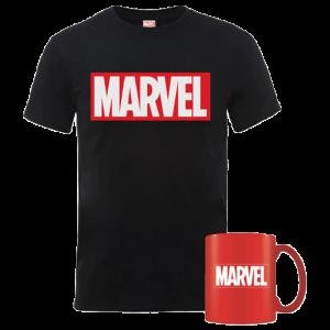 t shirt marvel avec mug visuel produit