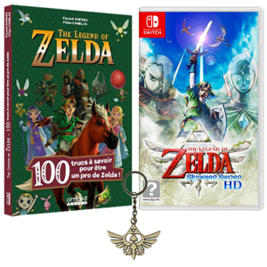zelda skyward sword bonus précommande livre porte clef visuel produit