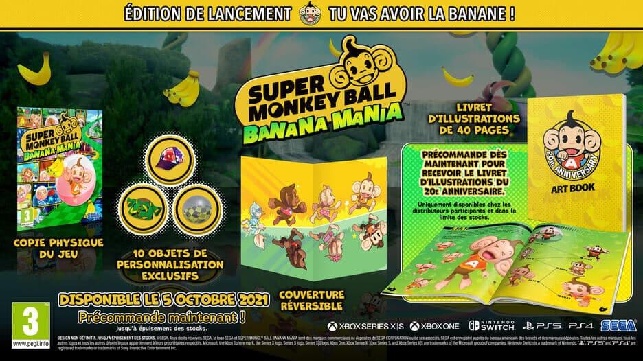 Super Monkey Ball Banana Mania Edition Anniversaire sur PS5 details