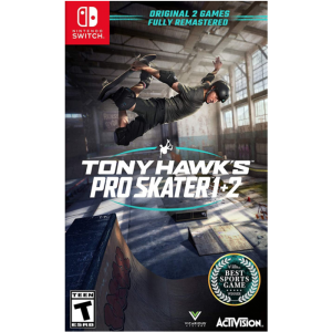 tony hawk pro skater 1 + 2 switch visuel produit