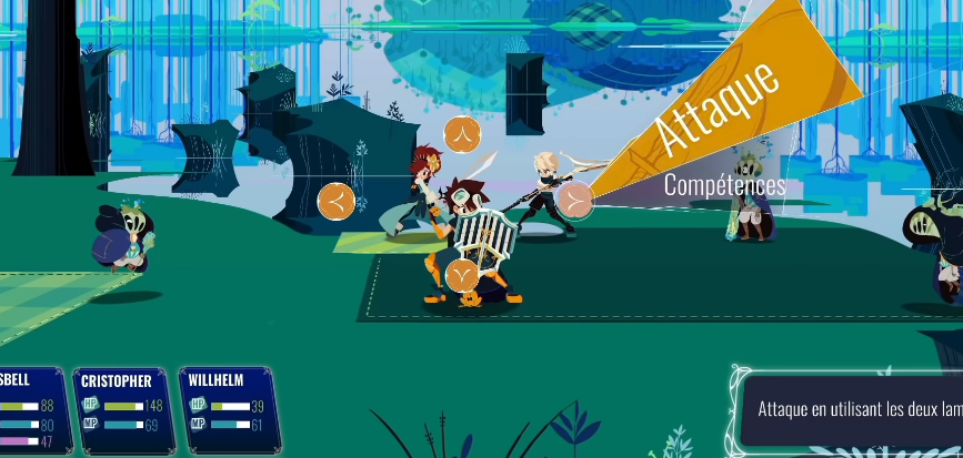 test cristales switch screenshot gameplay combat