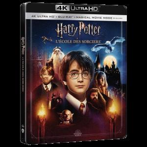 Harry potter à l'école des sorciers Blu Ray 4K Steelbook visuel produit